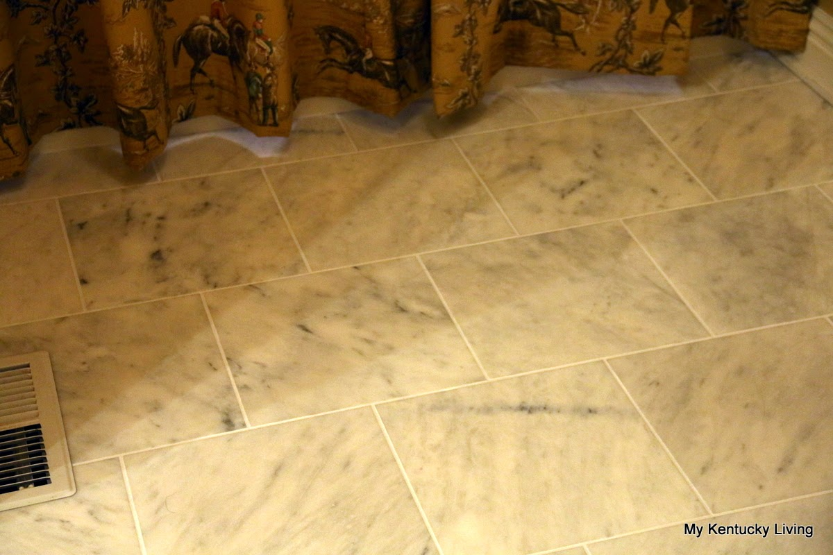 Honed marble tile