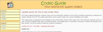 K-Lite Codec Pack 14.7.4 Update