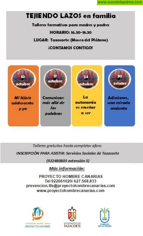 Talleres gratuitos para padres y madres en Tazacorte