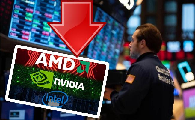 Las acciones de AMD, Intel y Nvidia también están viendo caídas por los efectos del coronavirus
