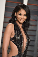 chanel iman cut out black gown 2016 vanity fair oscar party best red carpet dresses