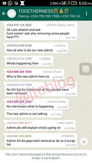 Admin Shuts Down Ponzi Whatsapp Group After 200 Members Paid
