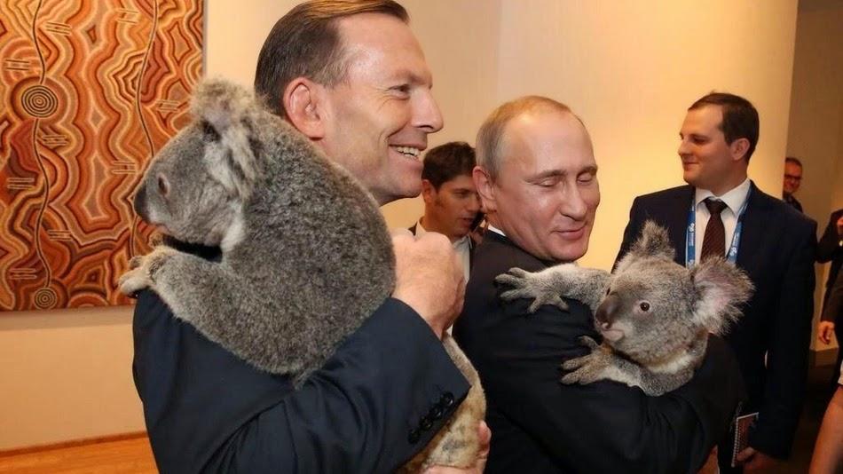 Τόνι Άμποτ και Βλαντιμίρ Πούτιν