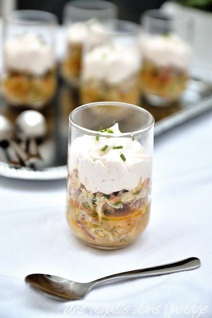 verrine-crabe-agrume-tarama-chantilly-entrée
