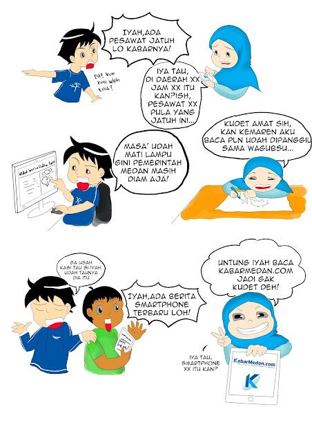 komik Selamat ulang tahun kabarmedan.com! Apa kabar? Ya kabar Medan!