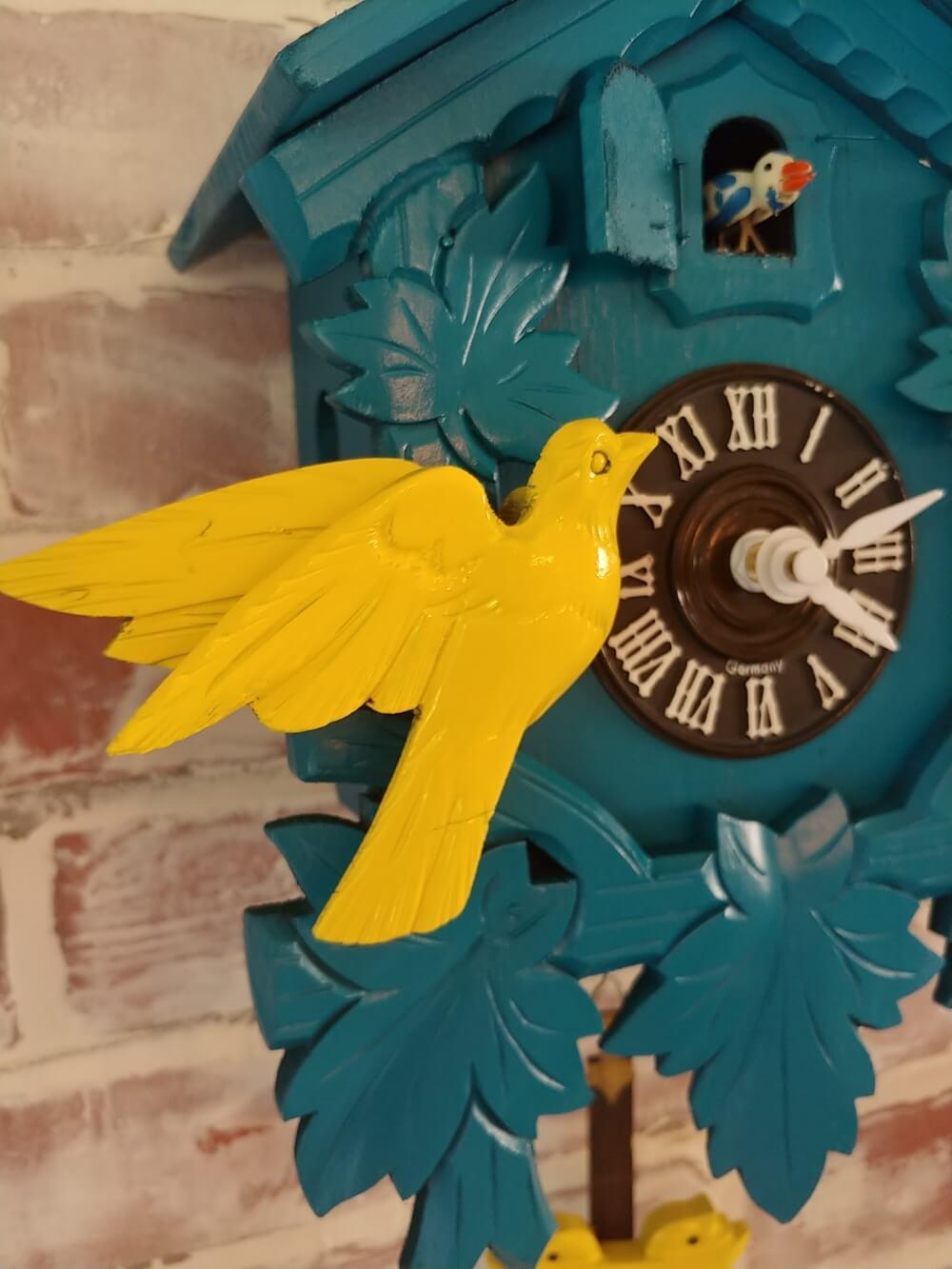 Upcycled Cuckoo Clock closeup