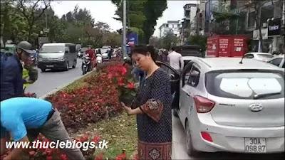Xôn xao clip dân đổ xô vơ vét hoa sau thượng đỉnh Mỹ - Triều