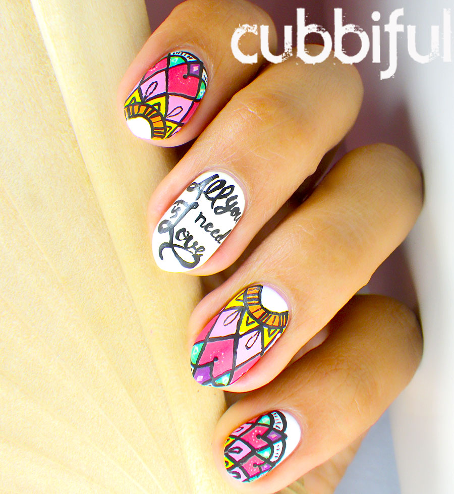 cubbiful: Mandala Nail Art inspired by @danroots