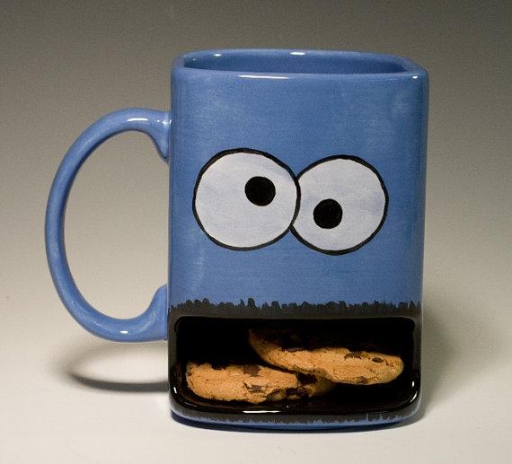 taza monstruo de las galletas