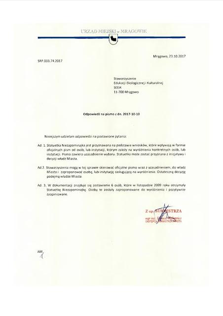 Złożono wniosek w sprawie mrągowskiej Niezapominajki