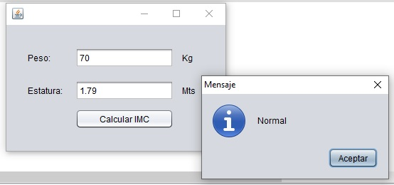 Calcular el IMC en JAVA Netbeans