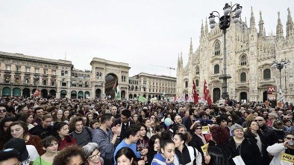 Marcharon en Milán contra el racismo y la discriminación