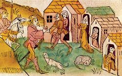 Abraham von Kiduna en una xilografia alemanya, 1477. (Source: historytoday.com)