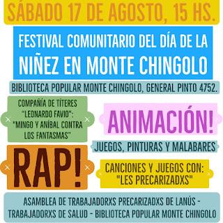 Monte Chingolo celebra este Sábado el Día de la Niñez