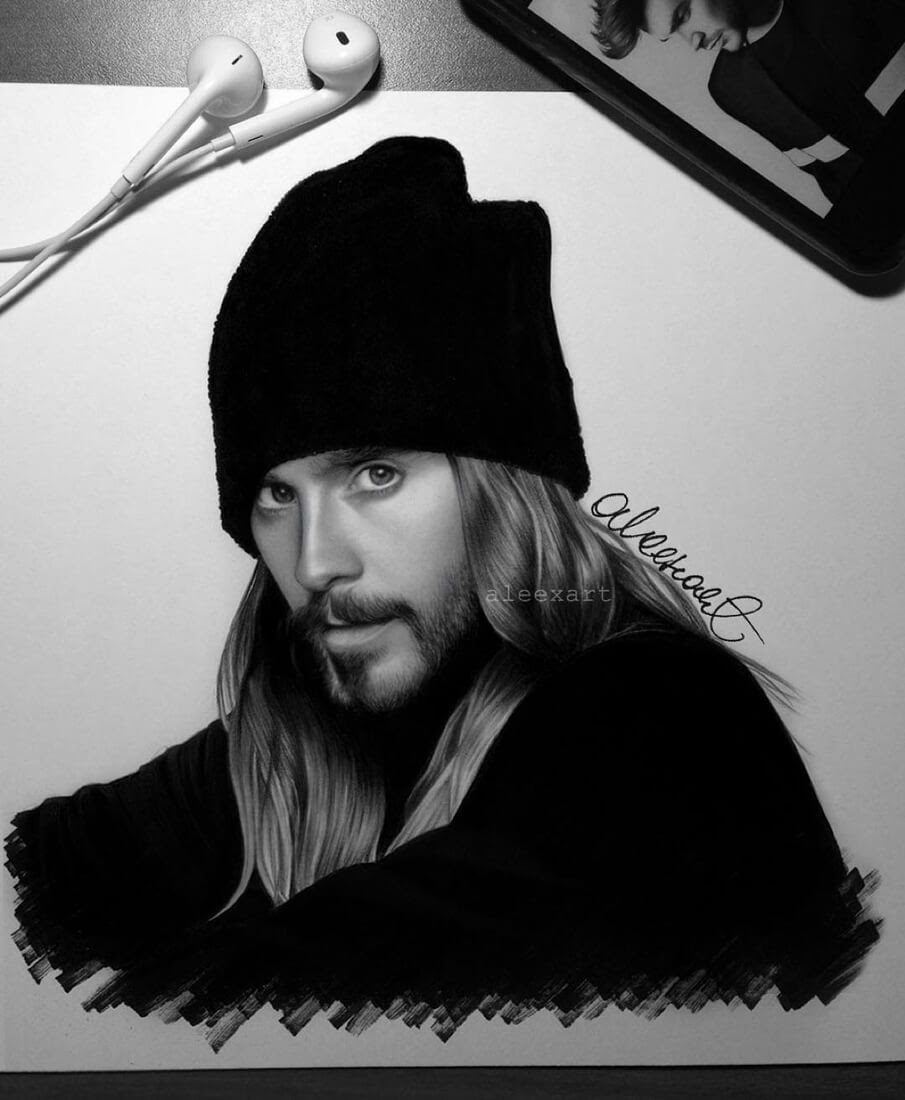 04-Jared-Leto-Alex-Manole-Celebrities-Drawn-in-Realistic-Portraits-www-designstack-co