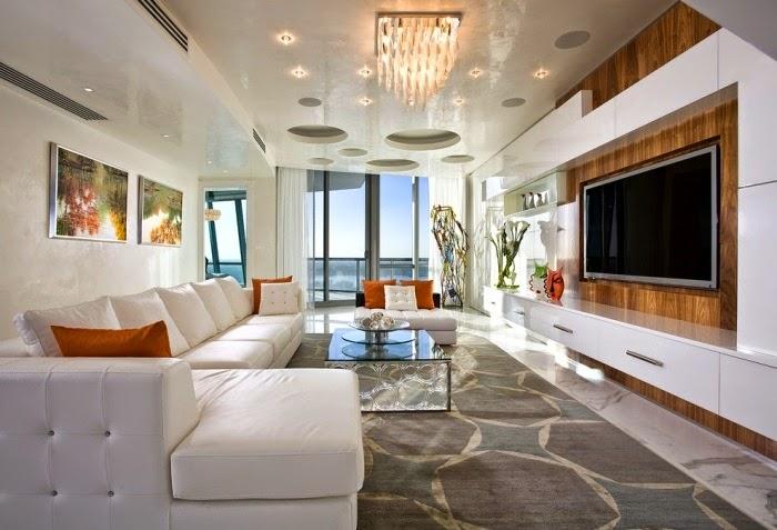 Salas largas y estrechas salas con estilo for Sala de estar con tv