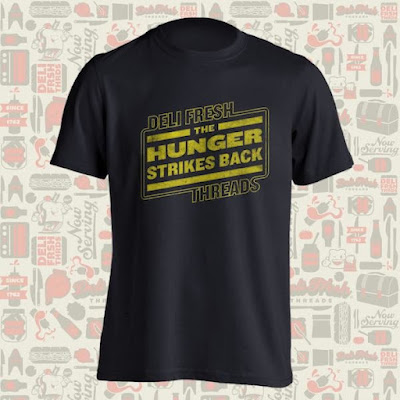 """Hunger Strikes Back"" Star Wars T-Shirt by Deli Fresh Threads"