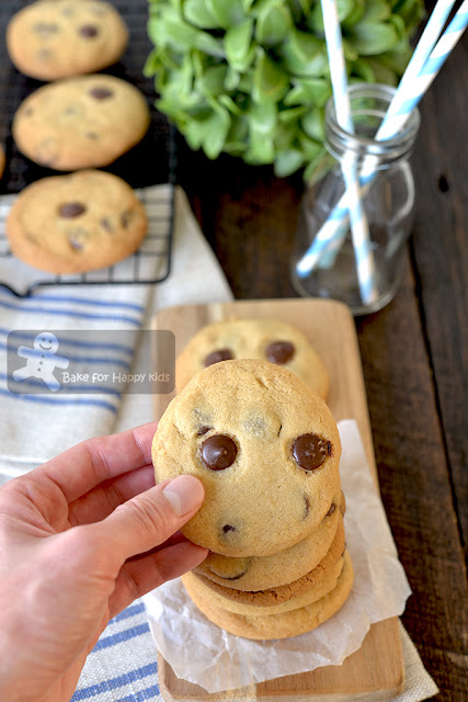 best copycat Chips Ahoy chocolate chip cookies recipe two less sugar crispy crunchy