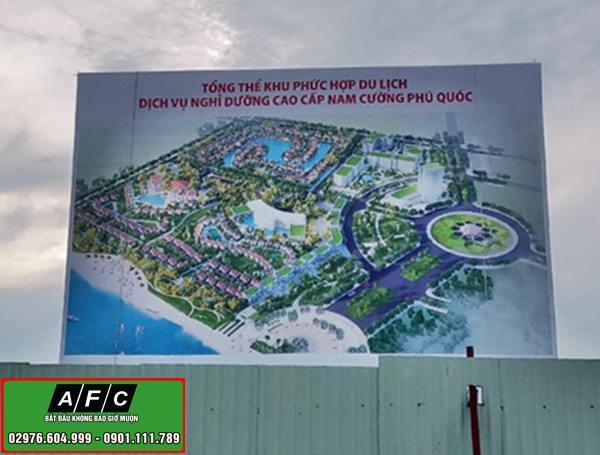 Thi công Pano quảng cáo ngoài trời Tập đoàn Nam Cường tại Phú Quốc