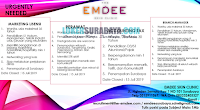 Urgenty Needed at The Emdee Skin Clinic Surabaya Terbaru Juli 2019