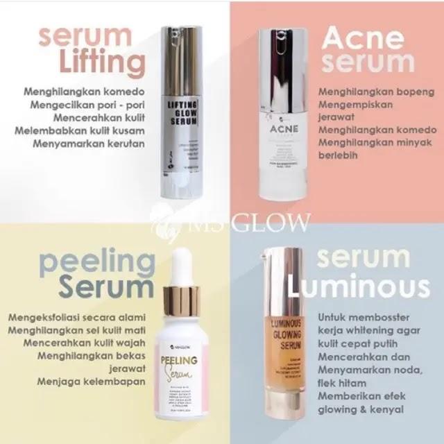 Perbedaan Serum Lifting MS Glow dan Serum Luminous Glowing