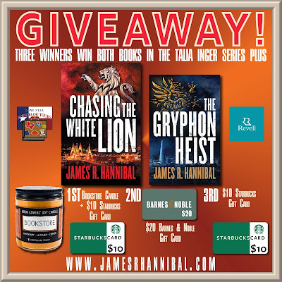 Chasing the White Lion giveaway graphic