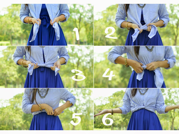 Outfit Tips :: How to wear a button up shirt over a dress