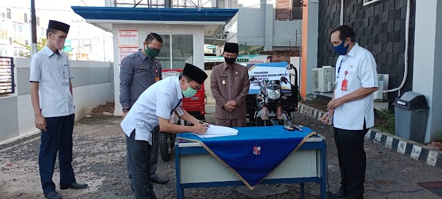 Dinas LH Kab.Lampura Menerima bantuan 2 Unit Bentor dan 1 Unit Truk Sampah dari Bank Lampung Cabang Kotabumi