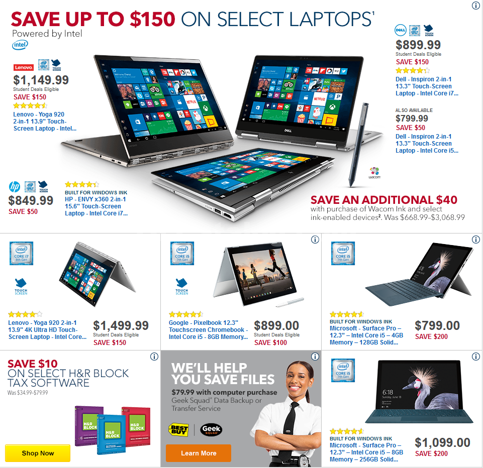Best Buy Weekly Ad Induced Info