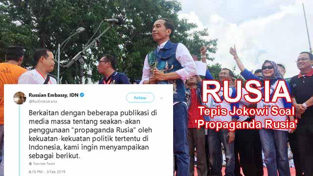 JS Prabowo: Terbukti Jokowi telah Sebarkan Hoax soal Propaganda ala Rusia