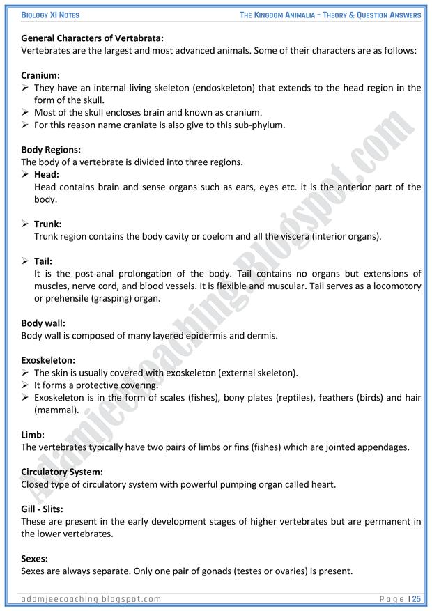 kingdom-animalia-descriptive-question-answers-biology-11th