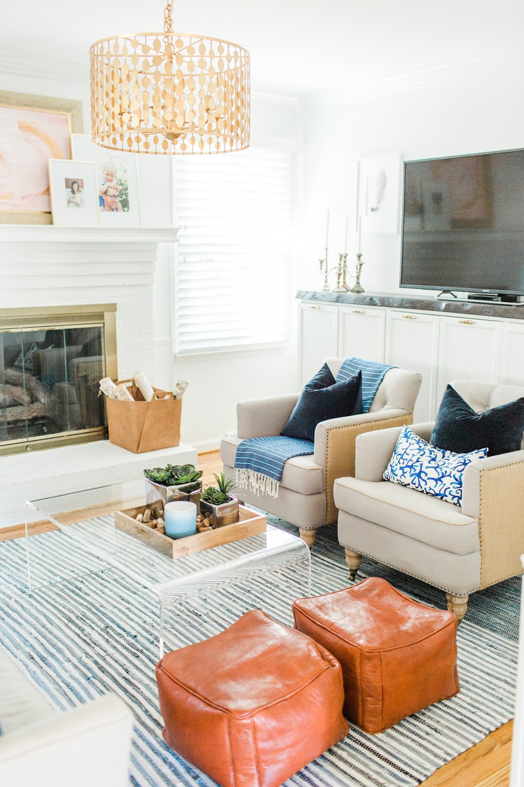 Small Boho Living Room: Boho Coastal Living Room Reveal