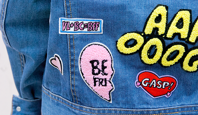 patches, denim jacket, betty and veronica