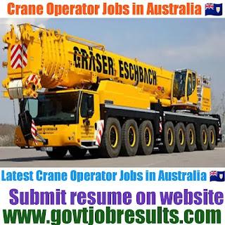 Crane Operator Jobs in Australia 2021-22