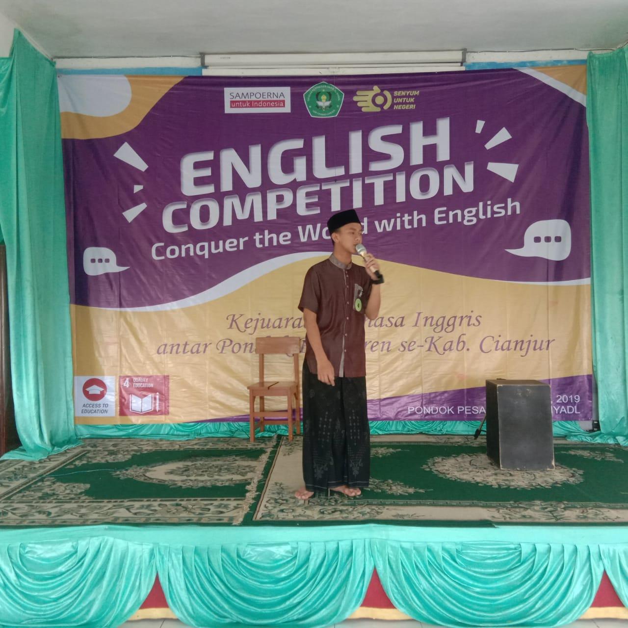 Disaksikan Bupati, Santri Ponpes di Cianjur Bersaing dalam Kompetisi Bahasa Inggris