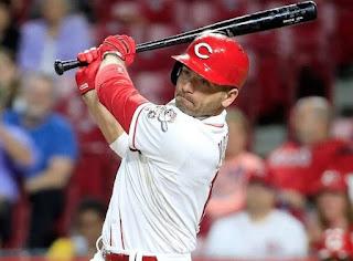 Joey Votto playing baseball for his team