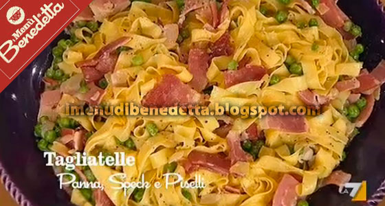 Tagliatelle panna speck e piselli la ricetta di for Ricette afrodisiache