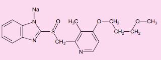 Rabeprazole sodium Structure