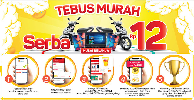 #Alfacart - #Promo Tebus Murah Serba 12 ( s.d 15 Des 2019)