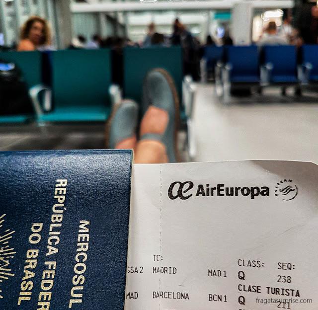 Voo do Brasil para Barcelona