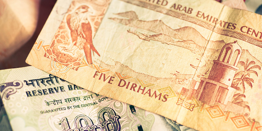 Comparison Between Uae Dirhams Aed And Indian Rus Inr