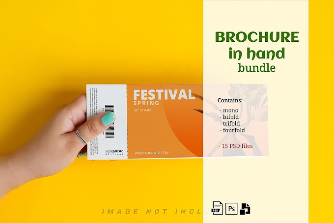 Brochure Mockup in Hand Kit[Photoshop][PSD][5204874]