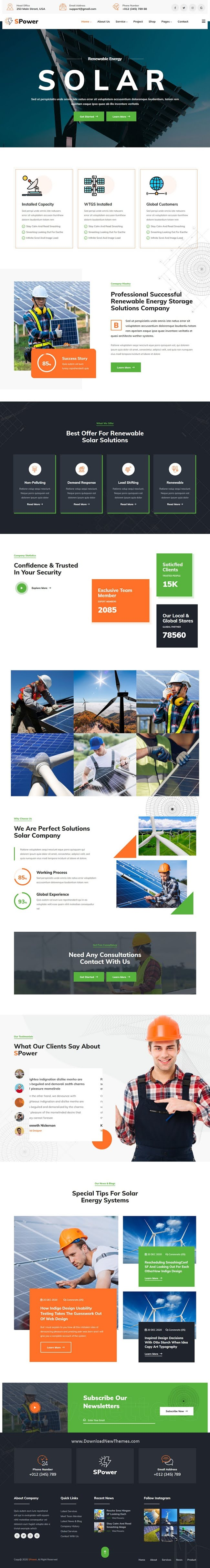 Wind & Solar Energy Responsive Template