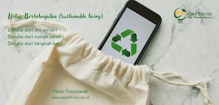 hidup berkelanjutan (sustainable living)