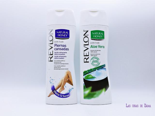 Natural Honey Loción Aloe Vera Revlon Piernas Cansadas corporal belleza hidratación