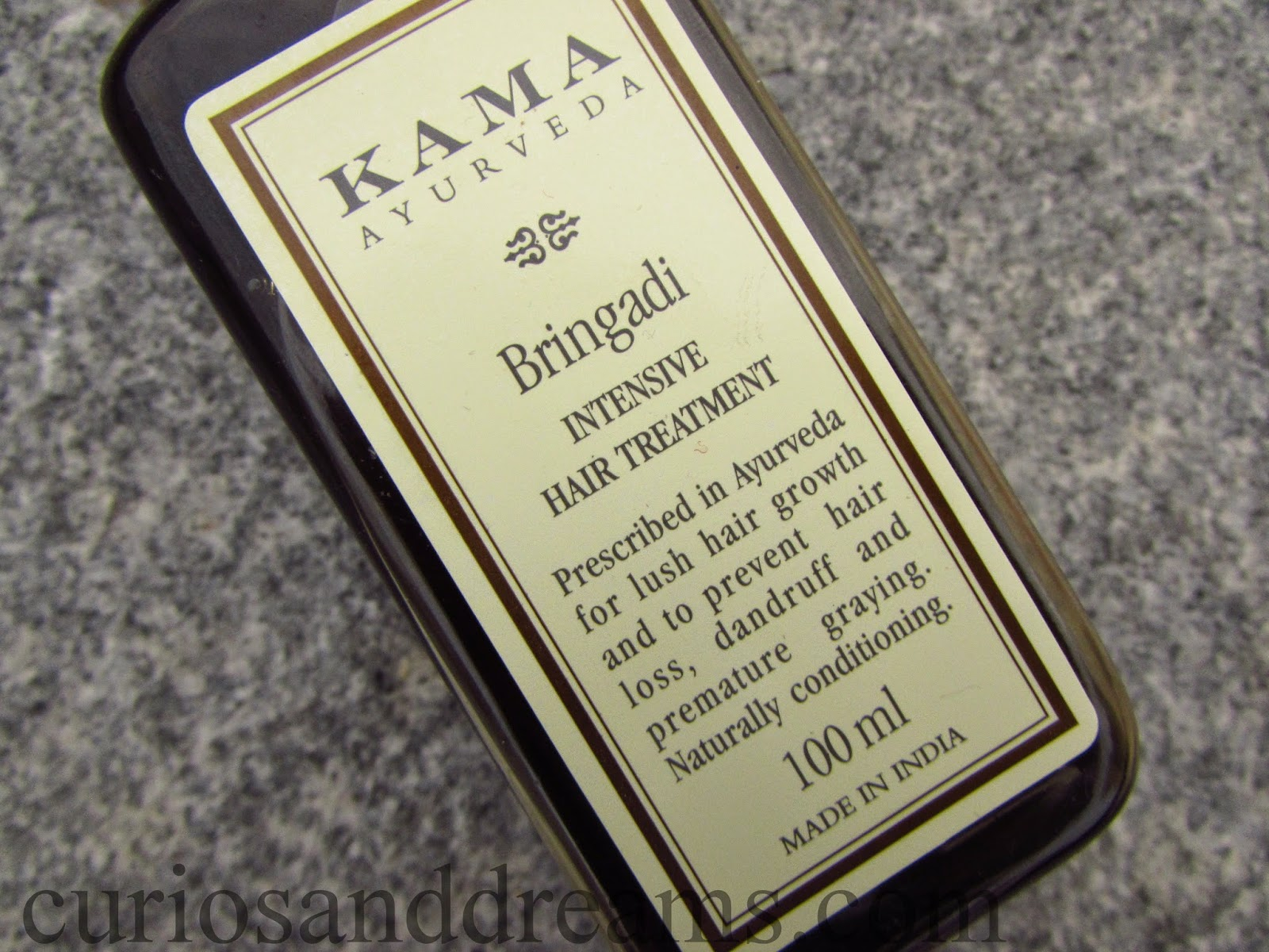 Kama Ayurveda Bringadi Intensive Hair Treatment Review, Kama Ayurveda Bringadi hair oil review