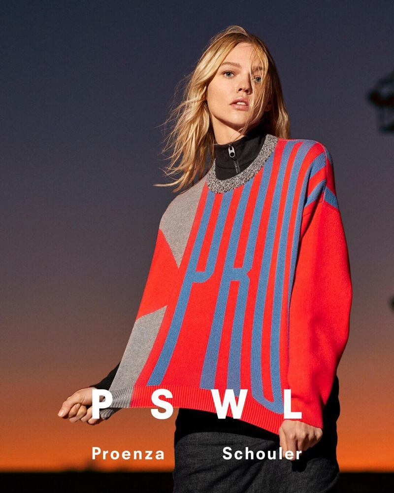 Sasha Pivovarova stars in PSWL Proenza Schouler spring-summer 2019 campaign