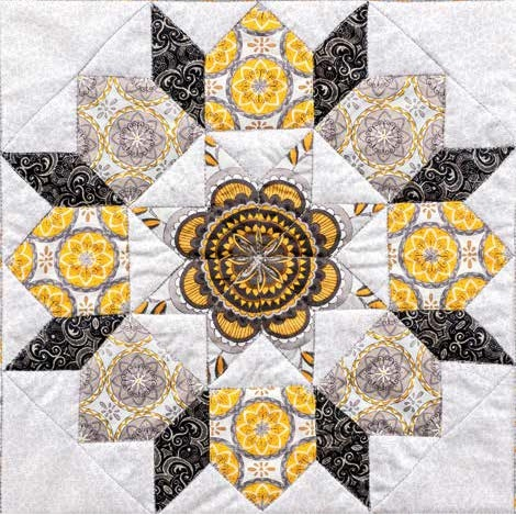 The Star of Bethlehem Block Free Pattern