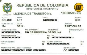 La Licencia De Tránsito Tarjeta De Propiedad Transito
