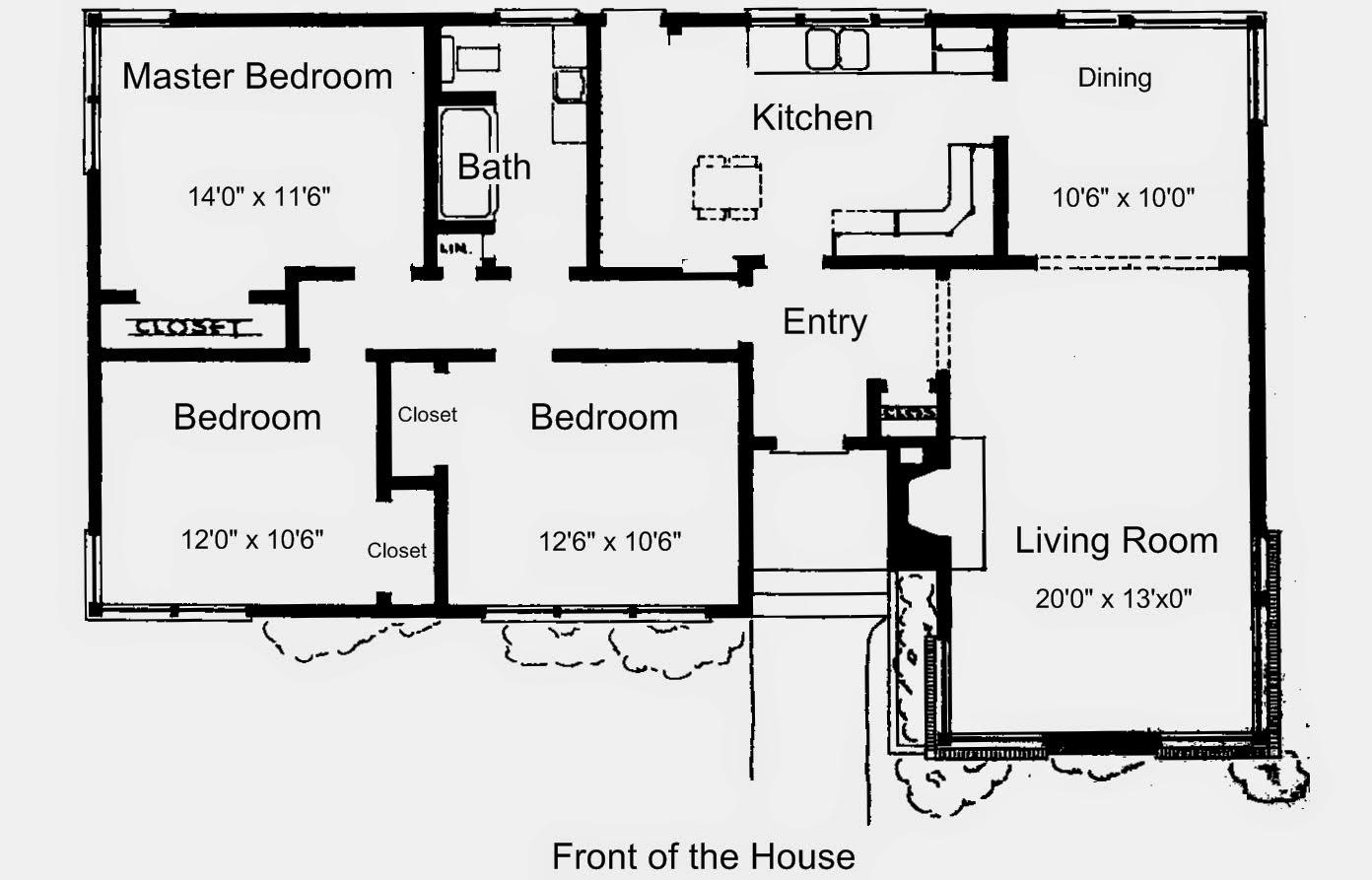 Rumah Minimalis Beserta Denahnya Terbaru Denah Rumah 4 Kamar